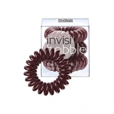 Chocolate Brown 3 Hair Rings - Invisibobble