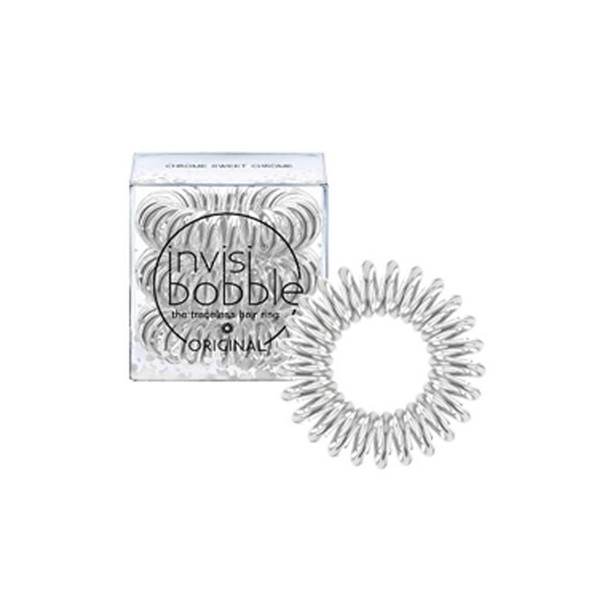 Chrome Sweet Chrome 3 Hair Rings - Invisibobble