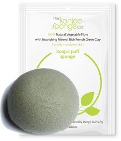 KONJAC & GREEN CLAY - ideale per pelli miste - the konjac sponge