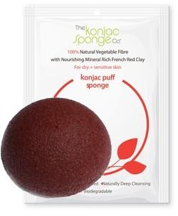 KONJAC & RED CLAY - Ideale per pelli secche e mature - the konjac sponge