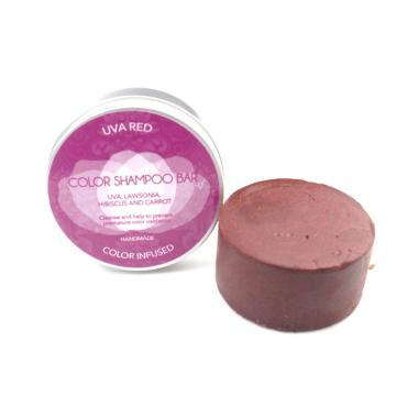 Color Shampoo Bar Uva Red - Biocosme